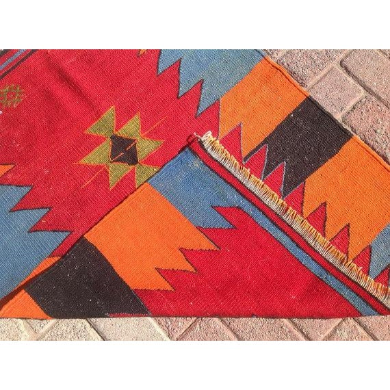 Vintage Turkish Kilim Rug - 2′9″ × 3′6″ - Image 6 of 6