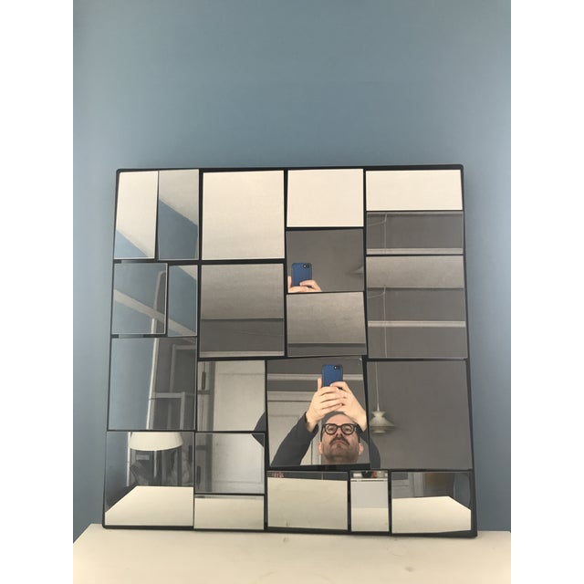Silver Cb2 Neal Small Slopes Style Mirror For Sale - Image 8 of 10