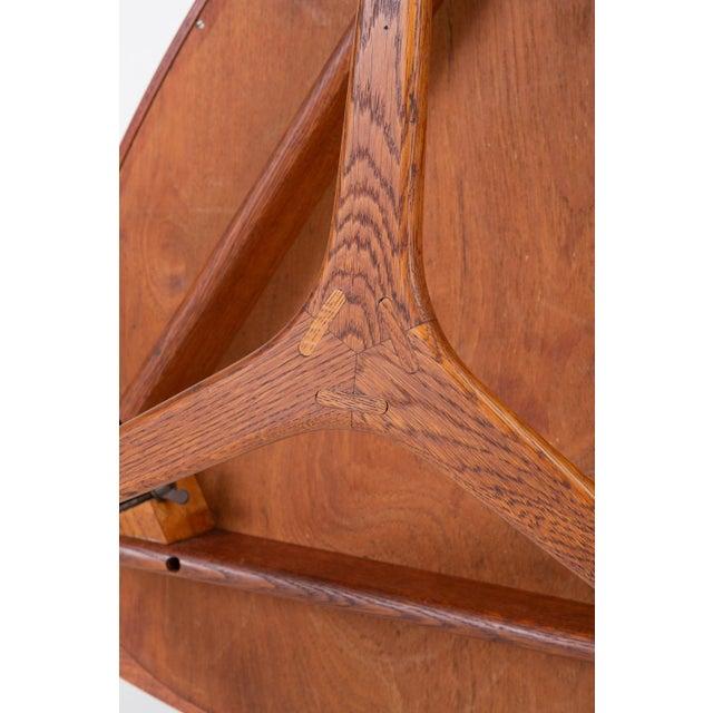 "Scandinavian Modern Teak ""Guitar Pick"" Side Table For Sale - Image 12 of 13"