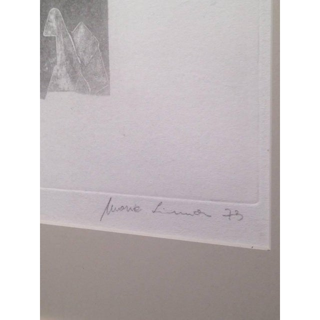 Abstract Maria Simoni Original Framed Pressed Serigraph For Sale - Image 3 of 5