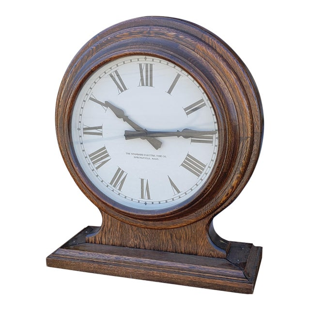 CoOak Station Electric Double Case Face Fantastic ~ Train The Standard School Clock Time 1920s nPOk80w