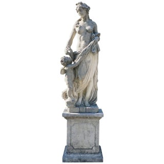 Early 20th Century Italian Garden Statue of Aurora For Sale