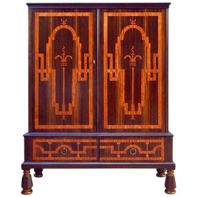 Swedish Art Deco Inlaid Rosewood Storage For Sale - Image 9 of 9