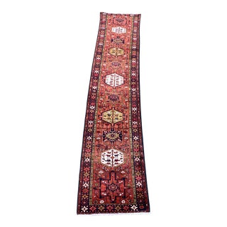 1960s Vintage Karajeh Runner-2′9″ × 13′2″ For Sale