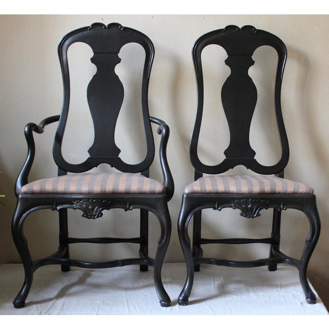 Queen Anne Style Dining Chairs - Set of 10 - Image 2 of 10