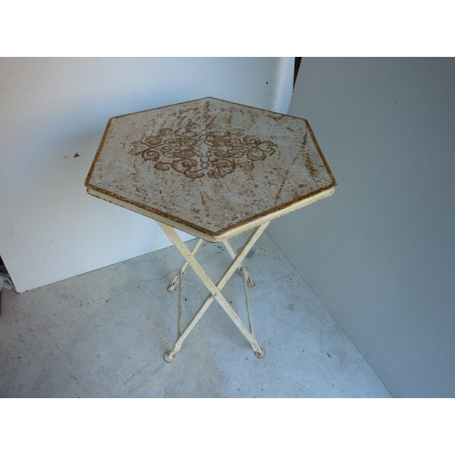 Painted Metal Folding Table For Sale In Portland, ME - Image 6 of 6