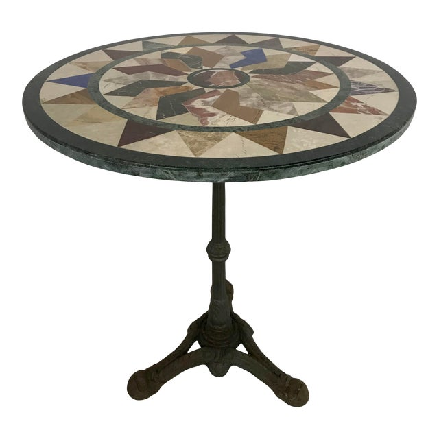 French Antique Bistro Table For Sale