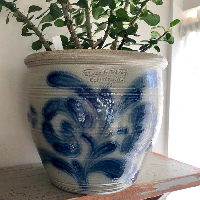 Beige Salt Glazed Mixing or Serving Bowl - Vintage For Sale - Image 8 of 13