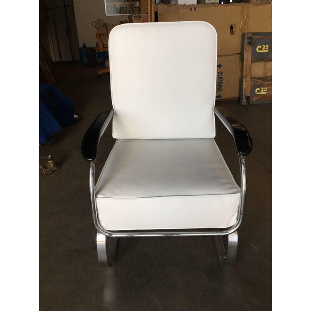 """Chrome Kem Weber Chrome Art Deco Armchair """"Springer Chair"""" for Lloyd For Sale - Image 7 of 8"""