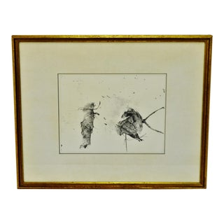 """Vintage Framed Andrew Wyeth Print """"Storing Up"""" Collection of Mrs. Andrew Wyeth For Sale"""