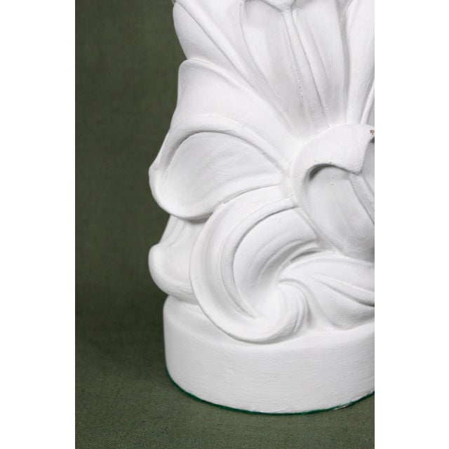1930s Serge Roché Fully Restored Palmate Plaster Table Lamp For Sale - Image 10 of 13