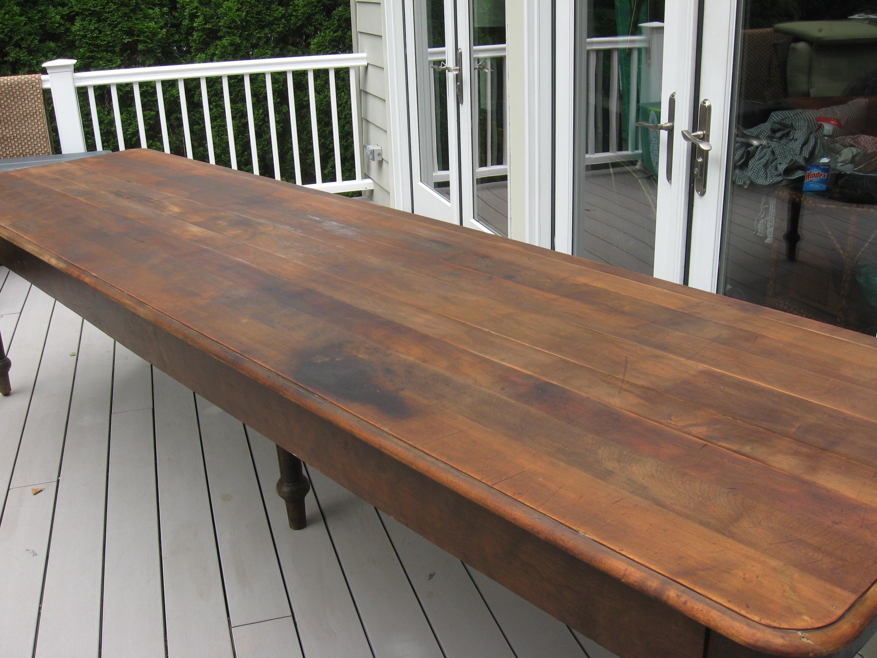 Mahogany Antique 1800s Primitive Mahogany Farm Table For Sale   Image 7 Of 8