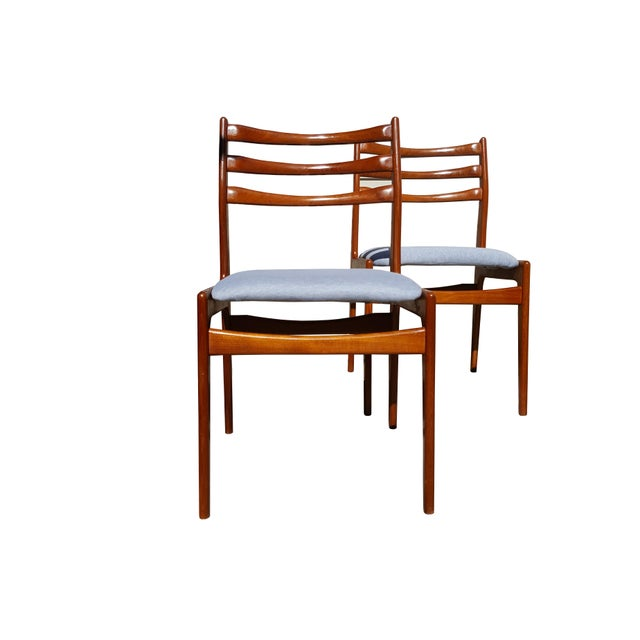 Danish Mid-Century Modern Teak Wood Dining Chair - A Pair - Image 7 of 8