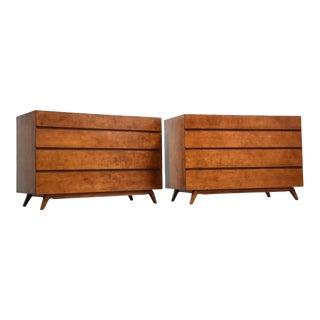 Swedish Modern Birch Dresser Commodes- a Pair Mid Century Modern For Sale