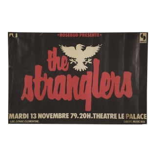1970s Vintage The Stranglers Promotional Poster For Sale
