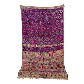 "Boujad Vintage Moroccan Rug, 5'5"" X 9'10"" For Sale"