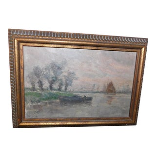 Romain Steppe Oil on Board Painting For Sale