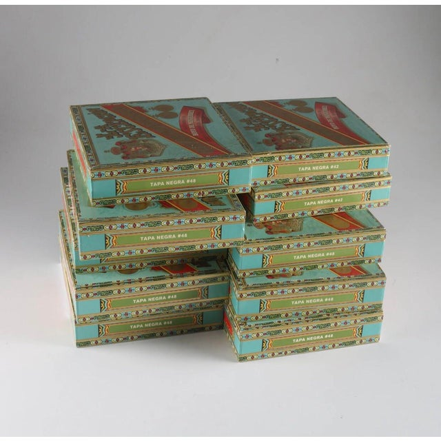Vintage La Escepción Cigar Boxes - 10 Pieces For Sale In Providence - Image 6 of 6