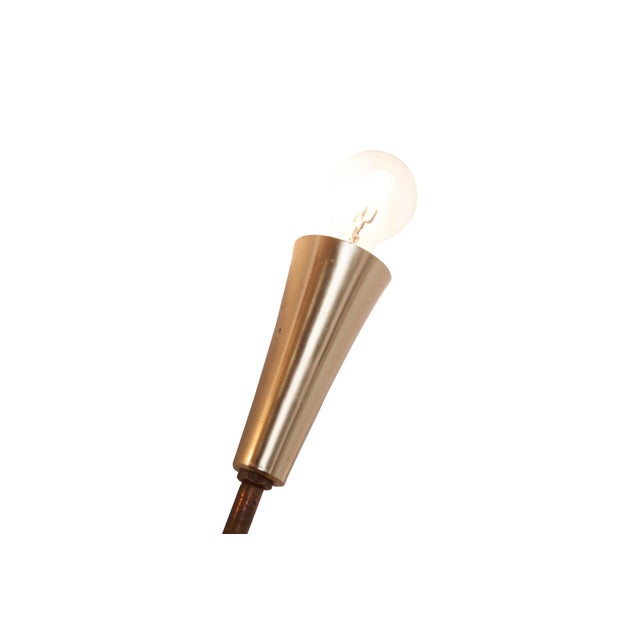 Gold Wall Mounted Sun Lamp in Brass & Resin For Sale - Image 8 of 11