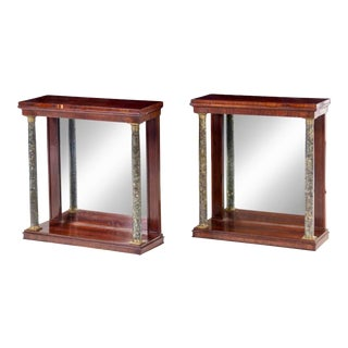 Early 19th Century Russian Neoclassical Mahogany Pier Tables - a Pair