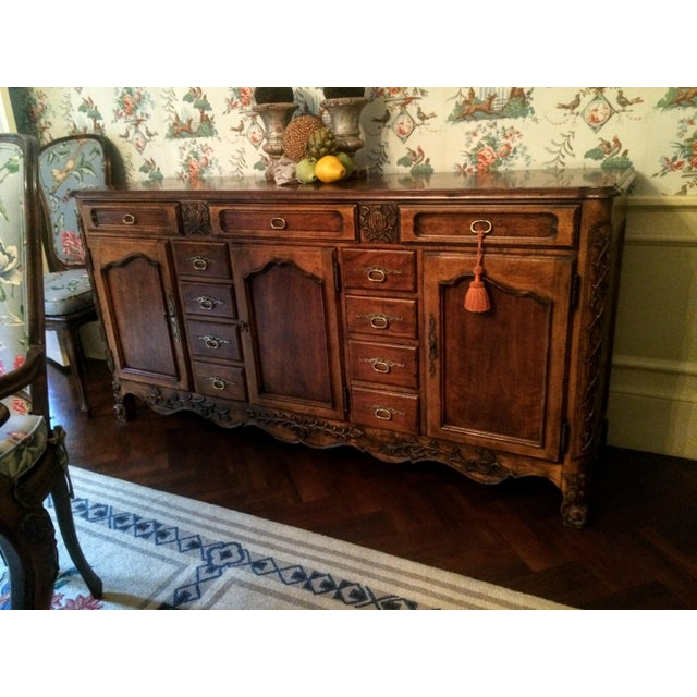Mount Airy Furniture Co. French Provincial Sideboard Buffet For Sale - Image 5 of 11