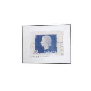 Reproduced Vintage Stamp of Queen Elizabeth II