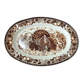 Enameled Turkey Platter For Sale