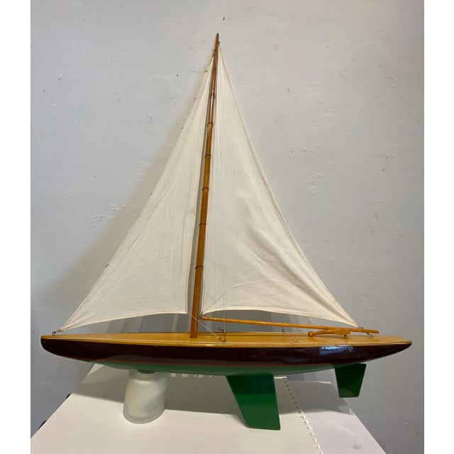 Brown Mid 20th Century Model Sailbaot For Sale - Image 8 of 8