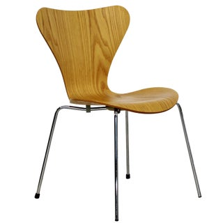 Mid Century Modern Reproduction Jacobsen Fritz Hansen Molded Side Chairs - Set of 12 For Sale