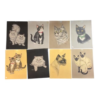 Vintage Cat Prints by Gladys Emerson Cook - Group of 8