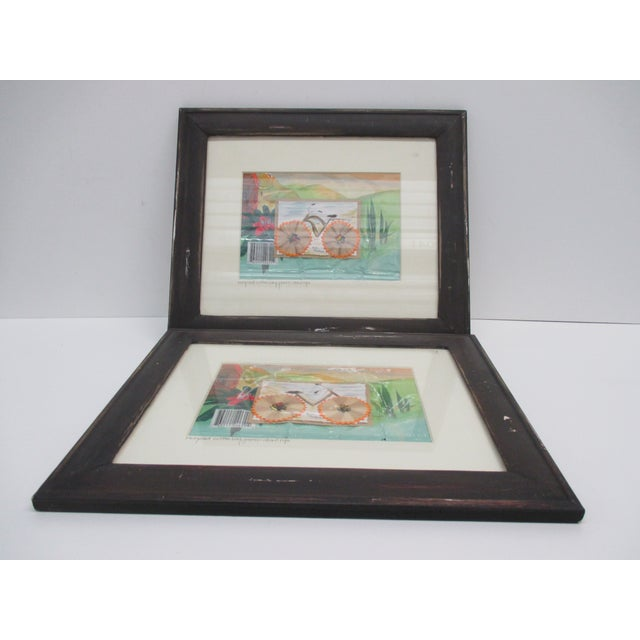 Pair of Vintage Collages With Recycled Materials For Sale - Image 4 of 5