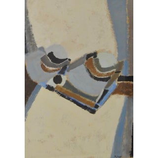 1970s Abstract Painting by San Francisco Artist P. Ciment (American, B. 1947) For Sale