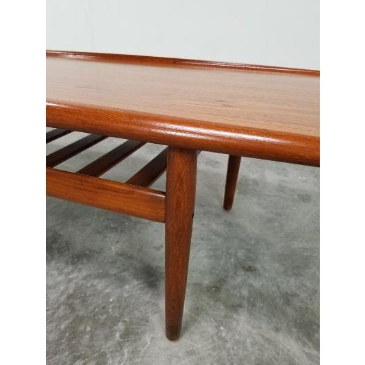 Grete Jalk 1960s Mid-Century Danish Coffee Table by Grete Jalk For Sale - Image 4 of 11