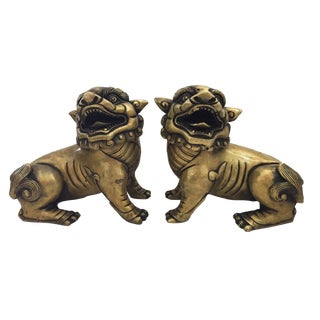 Bronze Foo/Fortune Dogs - a Pair For Sale