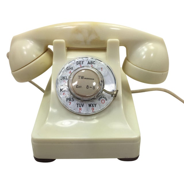 Western Electric 1953 Ivory 302 Telephone - Image 1 of 8