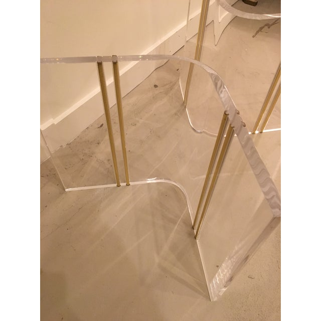 Lucite cocktail table - Image 4 of 7
