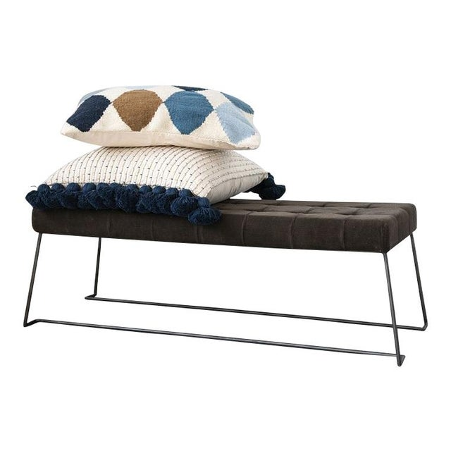 Mid-Century Modern Mid Century Upholstered Bench For Sale - Image 3 of 5