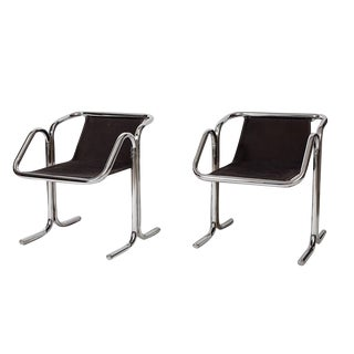 Jerry Johnson Tubular Chrome Dining Chairs