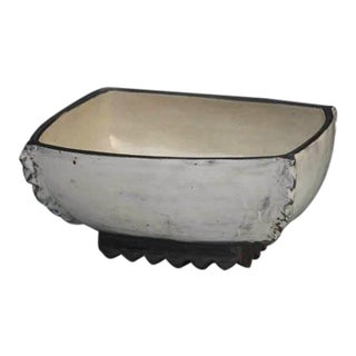 Kang Hyo Lee, Puncheong Square Bowl W Ash Glaze 5, Ca. 2012 For Sale