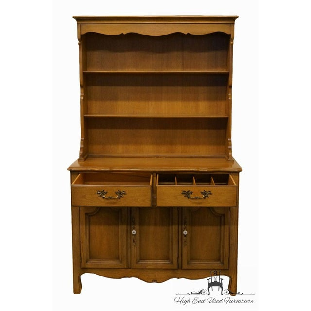"Drexel French Country 42"" Buffet W/ Hutch For Sale In Kansas City - Image 6 of 13"