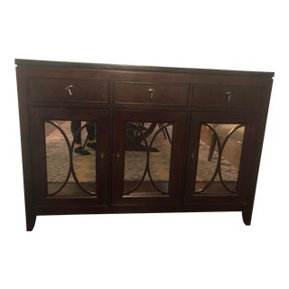 Transitional Marble Top Dining Sideboard For Sale
