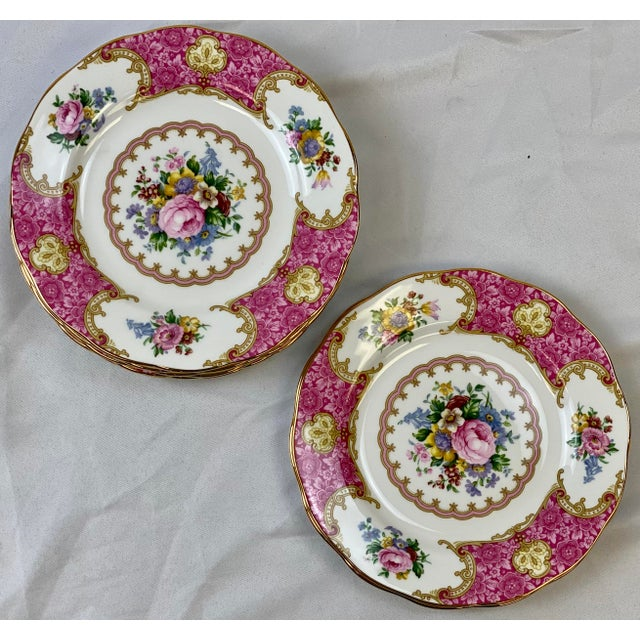 "These Bread & Butter Plates (6.375"") are a Classic example of the Romantic, Floral Tradition of Royal Albert, the Lady..."