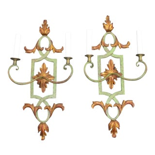 Italian Palladian Sconces Mid Century - a Pair For Sale