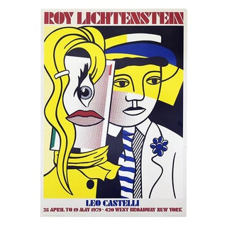 1979 Vintage Original Roy Lichtenstein Stepping Out Leo Castelli Serigraph Poster For Sale