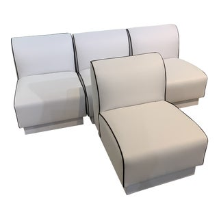 1980s Vintage Slipper Chairs-Set of 4 For Sale