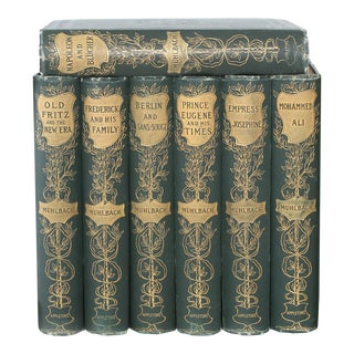 Collection Leather Bound Library Book Set - 7 Pieces For Sale