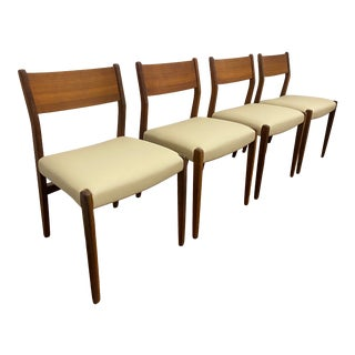 Vintage Danish Modern Dining Chairs,Set of 4 For Sale