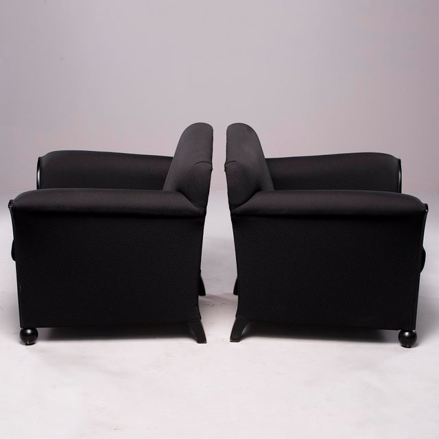 French Art Deco Vellum Edged Club Chairs - a Pair For Sale - Image 4 of 12