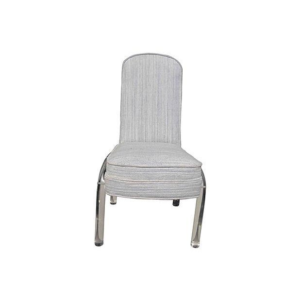Desk Chair With Lucite Legs - Image 2 of 5