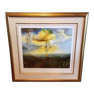 "Salvador Dali ""Le Chateau De Gala a Pubol"" Limited Edition Replica Lithograph Print For Sale"